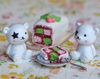 Miniature Battenberg Cake
