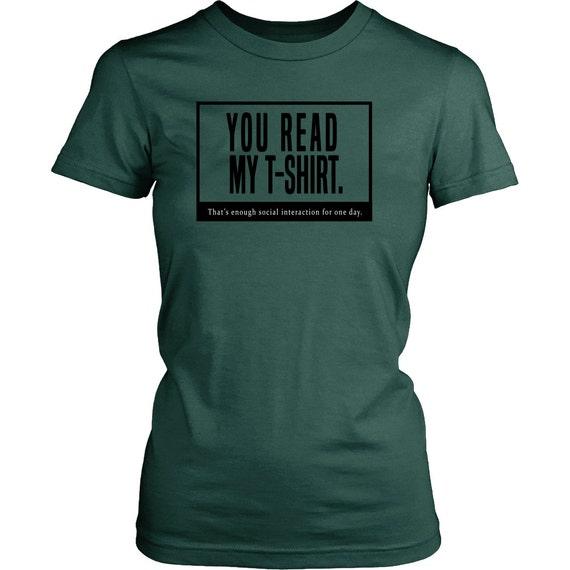 Womens Shirt - You Read My T-shirt