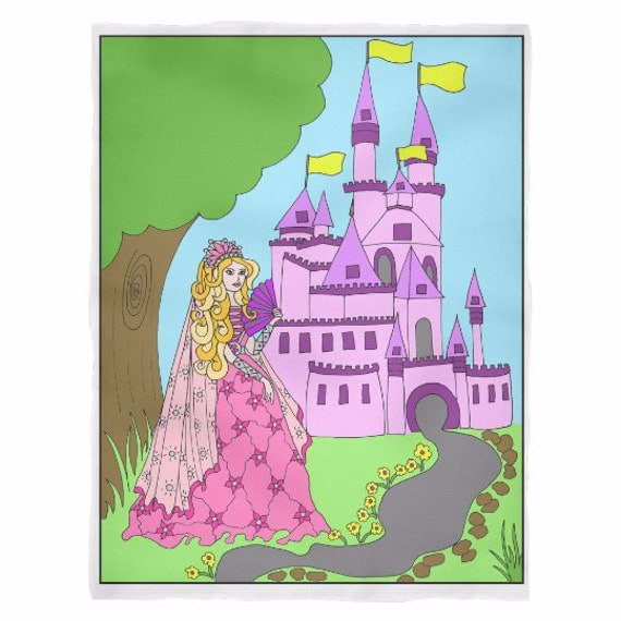 Princess Amber's Castle Blanket Princess Amber Princess Gift for Girls