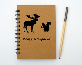 Supernatural inspired Moose & Squirrel notebook/journal