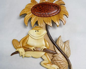 Frog wood carving (#frgwl16)