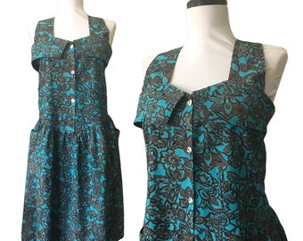 Vintage Cotton Batik Printed Sweetheart Sun Dress