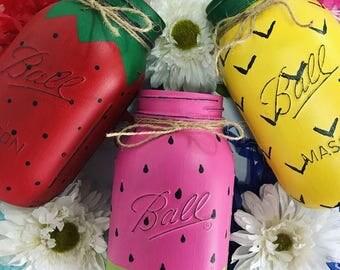 Fruit Mason Jars