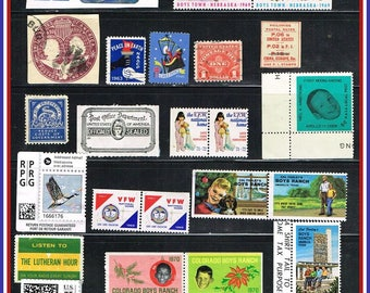 U.S.  Odds & Ends - Ephemera, Seals, Charity Stamps, Meter Postage , Cinderellas .....