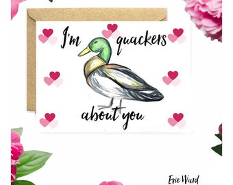 I'm quackers about you Valentines Day card