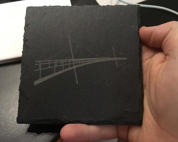Laser Engraved Liberty Bridge Coaster Set