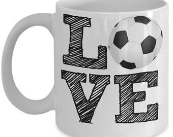 Soccer Fan Mug - Love Soccer - 11 oz Gift Mug