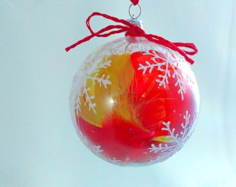 9cm, bauble, baubles, feather filled bauble, Christmas bauble, bauble decoration, decoration, tree bauble, Christmas decoration, decoration