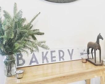 Bakery Sign, Bakery, Farmhouse Bakery Sign, Gray and White, Kitchen Decor