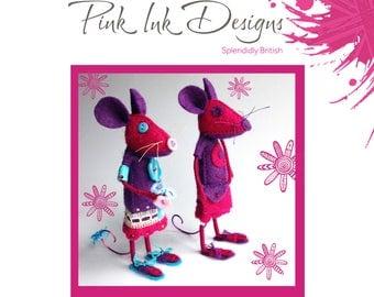 Felt Mouse pattern. Digital download