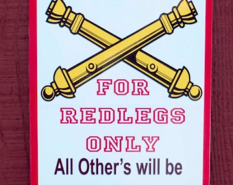 "8"" X 12"" RESERVED REDLEG parking sign"