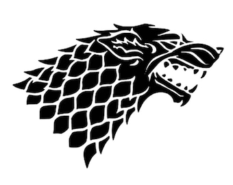 Game Of Thrones Dire Wolf Sticker - Direwolf Decal - Game Of Thrones Gift - Game Of Thrones Sticker - Direwolf Computer Sticker