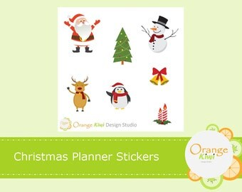Christmas Planner Stickers, Christmas Sample Set, Christmas Stickers, Erin Condren Life Planner, Happy Planner, Mambi, Filofax