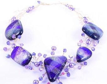 VIOLETTE purple necklace