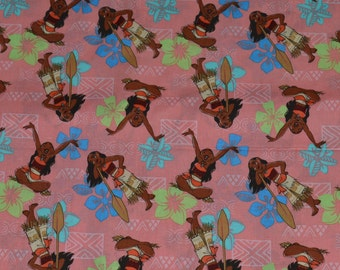 MOANA FABRIC! / By The Half Yard / Disney Princess - Polynesia - Oceania / hard To Find