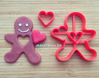 Valentines Day Gingerbread Man Cookie Cutter