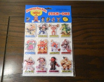 1986 Garbage Pail Kids Puffy Stickers Stick-Ons In Original Packaging GPK