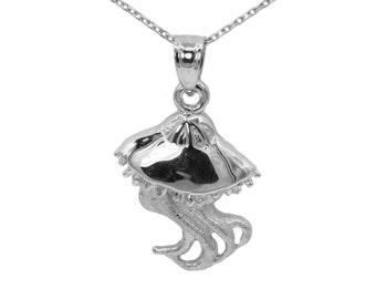 925 Sterling Silver Jellyfish Necklace