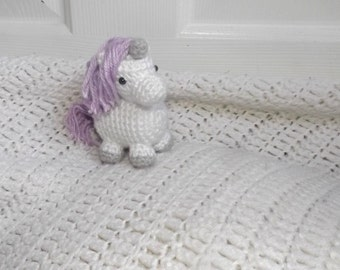 Little Unicorn, Crochet Unicorn, Stuffed Animal,  Plushie, Photography Prop, Gift for Her, Gift for Girls