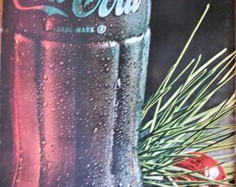 Coca Cola Christmas ad.  1966 Coke Christmas ad.  Vintage Coca Cola ad. Life Magazine.  December 23, 1966.