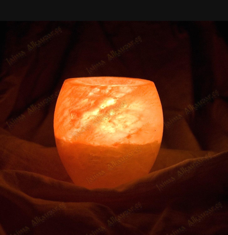 Salt Lamps Bayswater : Himalayan Salt Rock Polished Candleholder Lamp by YourCrystalShop