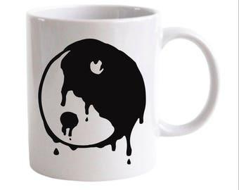 Drippy Yin Yang Soft Grunge Coffee Mug
