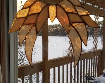 Stained glass angel wings
