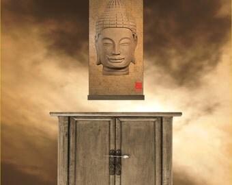 Buddha Face Tapestry - Kakémono scrolling poster SAK-015
