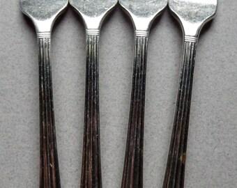 Oneida Silverplate Flatware 4 Coronation Dinner Forks, silver plate flatware