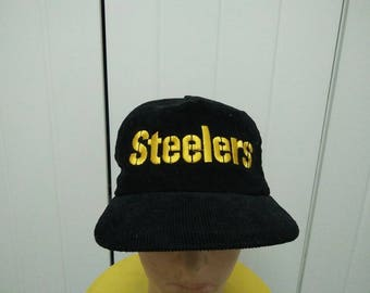 Rare Vintage STEELERS Embroidered Cap Hat Free size fit all