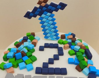 Minecraft Cake Decorations Uk : Minecraft cake topper Etsy UK