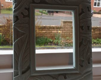 Hand made, hand painted ornate photo frame