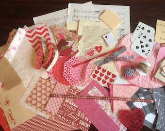 Junk Journal Grab Bag/ Ephemera Pack / Mixed Media Art Journal Kit / Scrap Paper Kit / Smash Book Kit / Art Journal / Scrap Pack