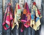 Unisex Kantha Quilted Swaddle, Kantha Baby Blanket, Kantha Toddler Blanket, Baby Shower Gift, Gender Neutral, Hippie Baby, Bohemian Nursery
