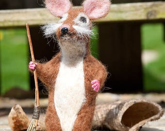 Needle Felted Mouse - One Of A Kind, Hand Made