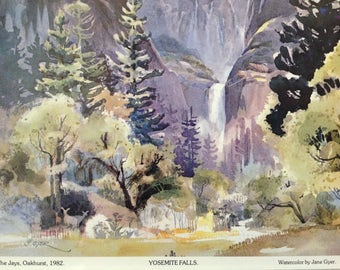 Jane Gyer - Yosemite Falls - Watercolor print