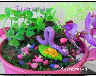 Miniature Fairy Garden Caterpillar
