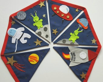 Outer Space Bunting for Children~Space Wall Hanging~Space Party Banner~Nursery Decoration~Children's Bedroom Decor