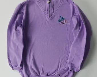 Womens Adidas Zip Up Pullover Hoodie, Vintage Pastel Sweater