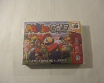 Mario Golf - N64/Nintendo 64  Custom  Case (***No Game***)
