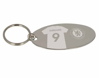 Personalised Chelsea Gifts - Chelsea City Keyring - Official Merchandise