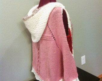 Hooded cape wrap shawl