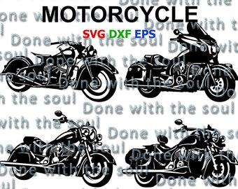 Motorcycle cut - Motorbike - Motorcycle svg - Motorcycle silhouette - Motorcycle download - Motorcycle digital - Cut files - Svg, Eps, dxf