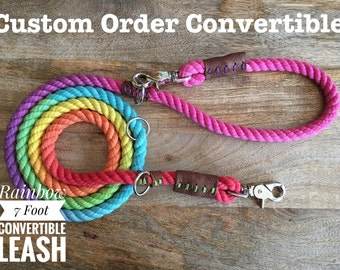 Custom Convertible Rope Leash (made to order)