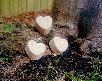 Heart Bath Bombs 3-pack
