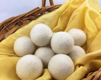 Organic wool balls, wool dryer balls, wool toys, organic wool