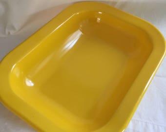 Vintage Bright Yellow Texas Ware Snack Dish