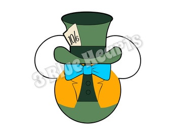 Mad Hatter Mickey Head, Mad Hatter SVG dxf pdf Studio, Alice in wonderland SVG dxf pdf Studio, Disney SVg dxf pdf Studio, Mickey Head