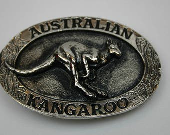 Kangaroo Belt Buckle 1994 Australian Animal Series