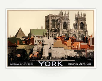 York England Travel Poster Print -